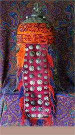 Back view Turkmen headpiece
