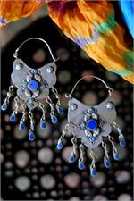 Lapis Turkmen Earrings