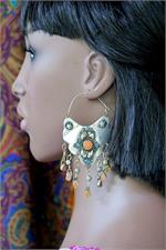 Turkmen Earring on Manikin