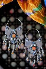Orange Turkmen Earrings
