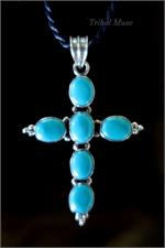 Turquoise cross from Nepal