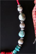 Turquoise and coral beads