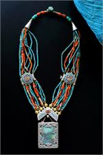 Multi-strand Tibetan necklace